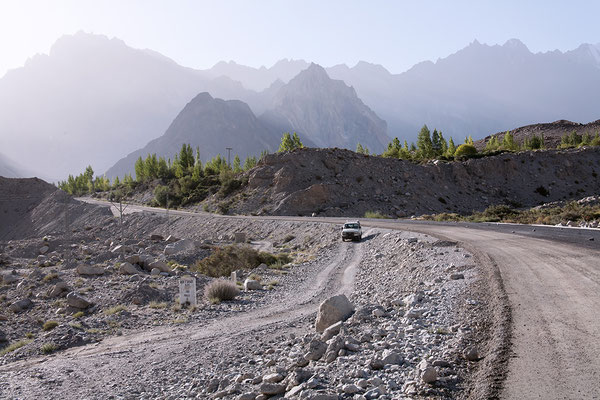 Abfahrt nach Shimshal Pakistan