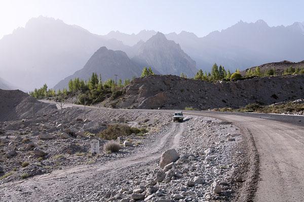 Abfahrt nach Shimsha,l Pakistan