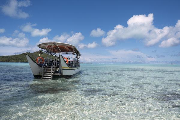 Ausflug in der Lagune von Bora Bora