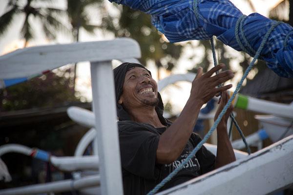 Fischer an Balis Nordküste Bali
