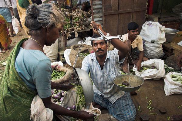 Markt in Mysore Indien