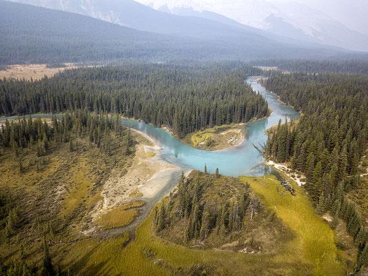 Landschaft am Icefields Parkway Alberta Kanada
