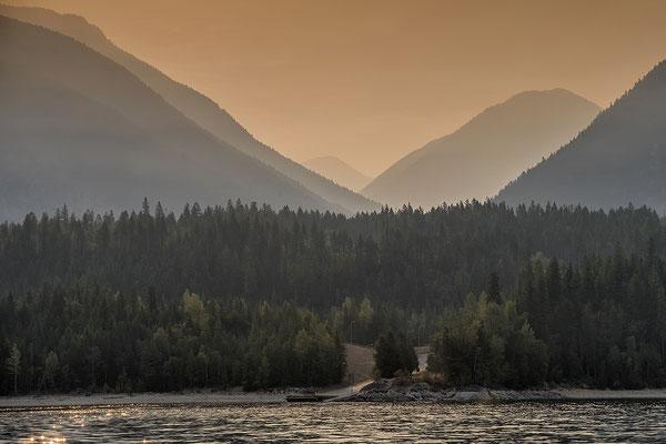 Auf dem Weg von Okanagan Valley nach Nakusp British Columbia Kanada