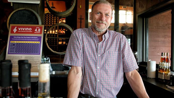 Weinprobe mit Herrn Walter Huber im Weingut Hainle organic and Deep Creek in Peachland Kanada