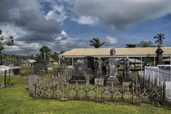 Friedhof mit deutschen Gräbern in Apia