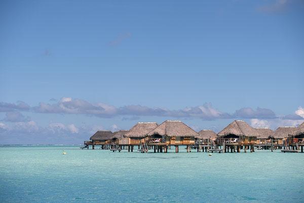 Luxushotelanlage in der Lagune von Bora Bora