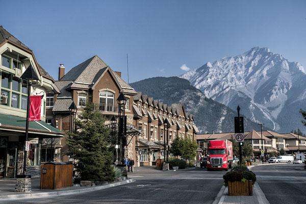 Im Zentrum von Banff Alberta Kanada