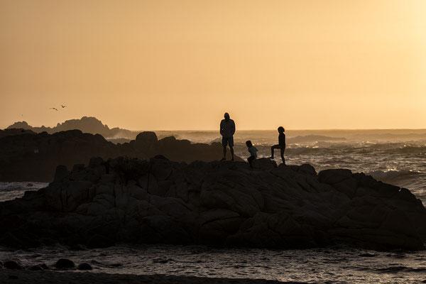 Abendstimmung am Strand bei Pacific Grove