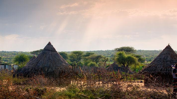 Dorf der Hamar Äthiopien