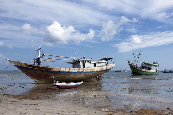 Pinisi-Schoner auf Sulawesi