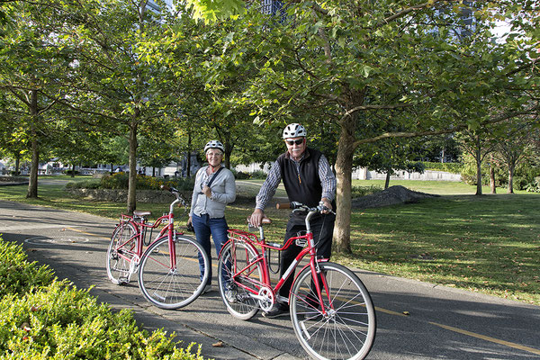 Radtour im Stanley Park in Vancouver Kanada