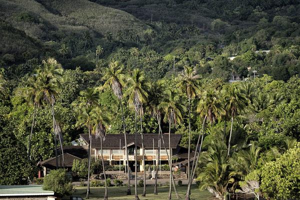 Blick auf Hakahau auf Ua Pou