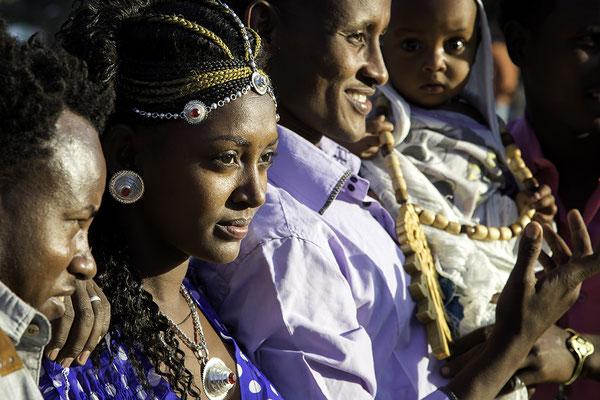 Auf dem Marienfest Hidar Zion Äthiopien