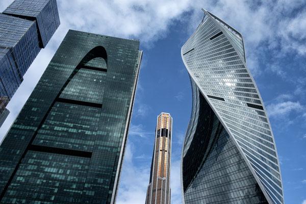 Moskau City am linken Moskwa-Ufer
