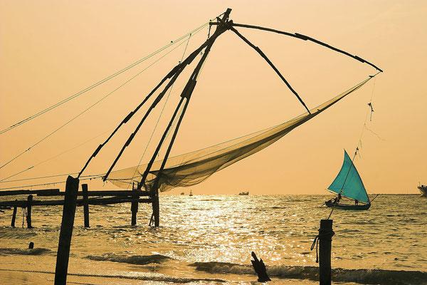 Chinesische Fischernetze nahe Kochi Indien