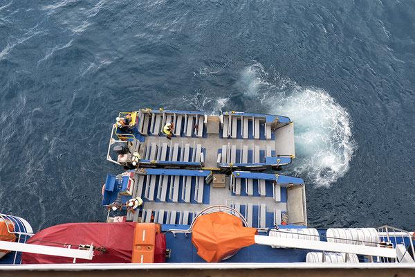 Bargen für Passagiere