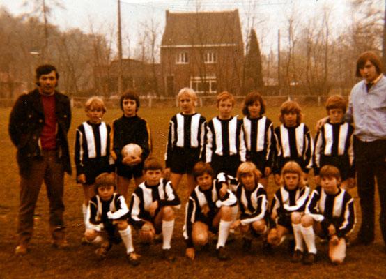 Mathy Billen begleider jeugdploeg WVV 73-74