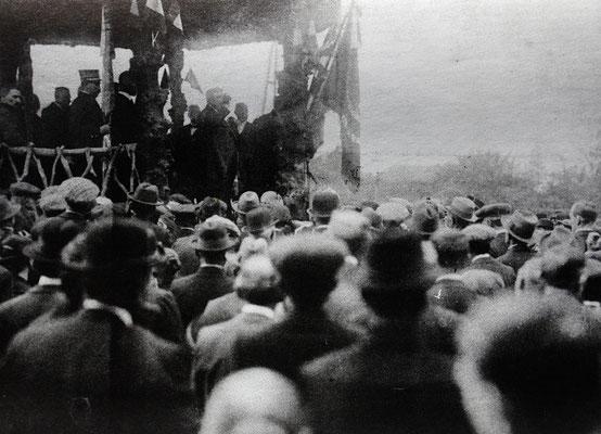 Toespraak burgemeester Peeters in 1919 na de bevrijdingstoet