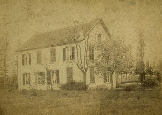 Neeroeteren wit huis op de Schootseheide woonhuis 1885 Nagant