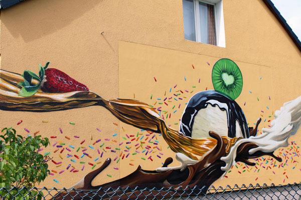 Fassadengestaltung Graffiti Berlin Bestensee