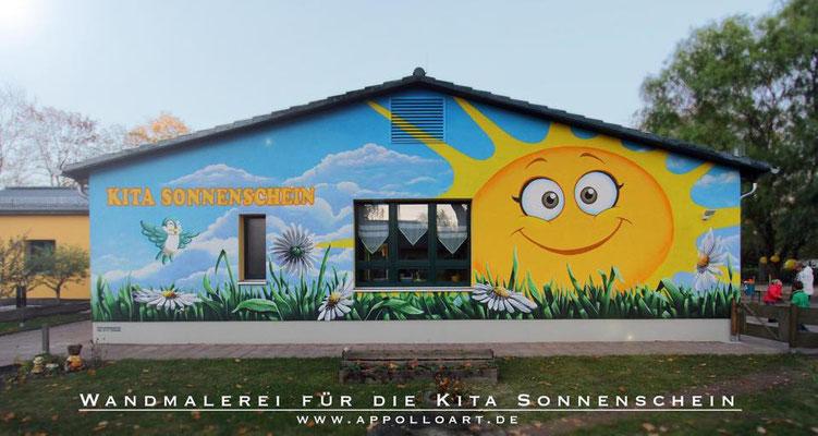 Kindergarten Fassadengestaltung Graffiti