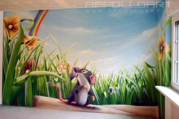 Kinderzimmer wandmalerei Hamburg