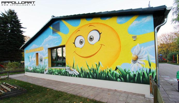 Sonnen Kita Fassadenmalerei