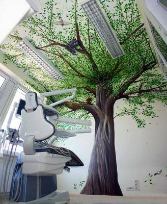 Baum in einer Zahnarztpraxis