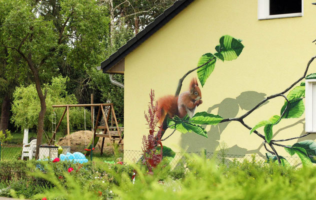 Naturmalerei auf der Fassade