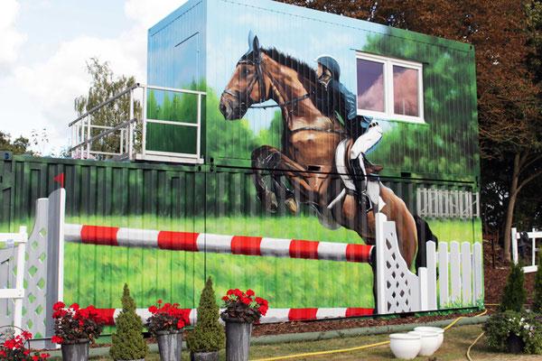Pferdemotiv auf dem Ponyhof in Brandenburg