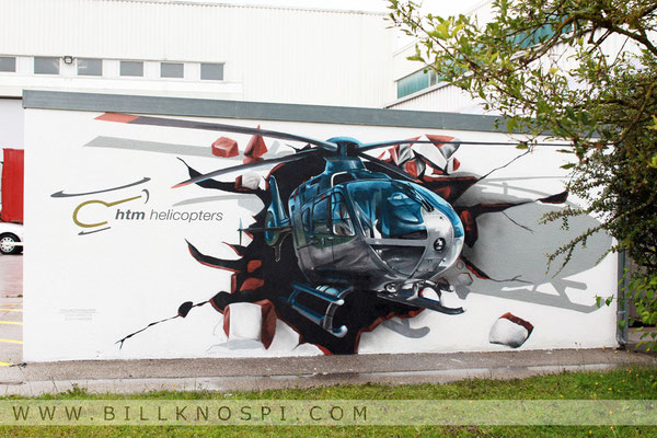 Hubschrauber Illusionsmalerei