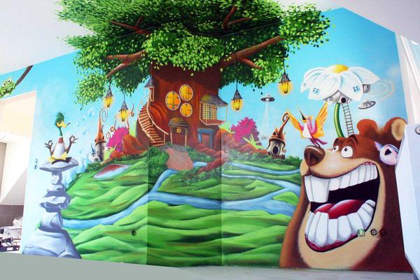 Kinderzimmer Wandmalerei in Erfurt