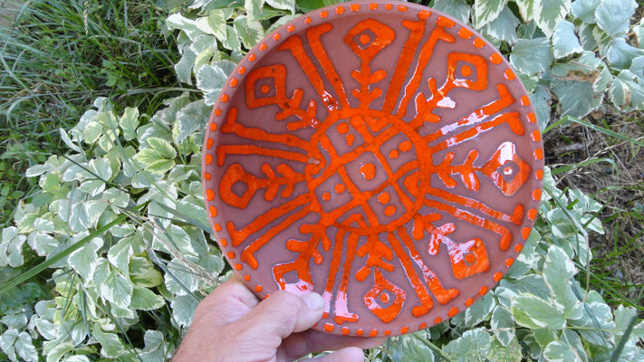 тарелка настенная декоративная, можно использовать в качестве посуды