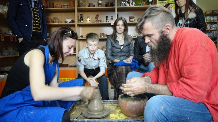мастер класс по гончарному мастерству ...с дамами приятно работать