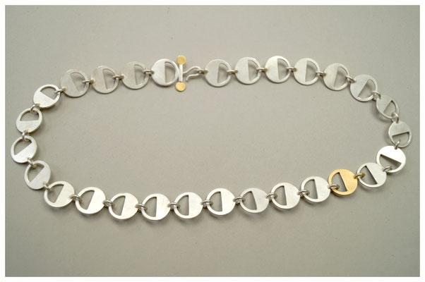 Kette aus Silber mit 900er Gold