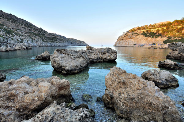 Griechenland, Rhodos, Meer, Küste, Felsen, Antony Quinn Bucht