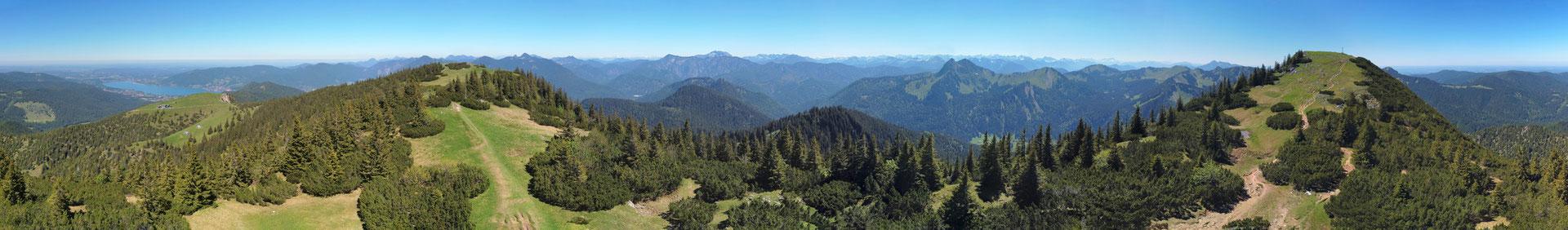 Panorama - Drohnenfoto - Landschaft - Bayern - Berge - Alpen - Sommer - Ausflug - Wanderung - Hirschberg 360 Grad