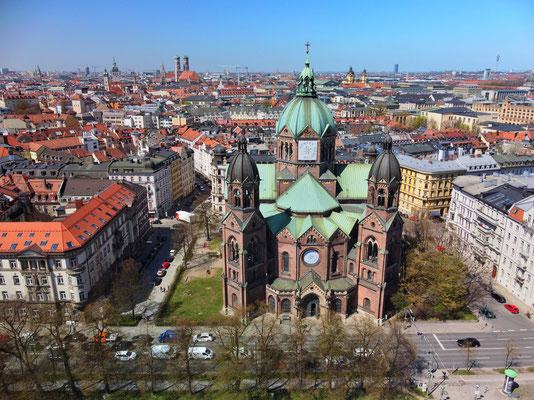 Drohnenfoto - Vogelperspektive - Drohne - Drohnenbild - Luftaufnahme - Landschaft - München - Innenstadt