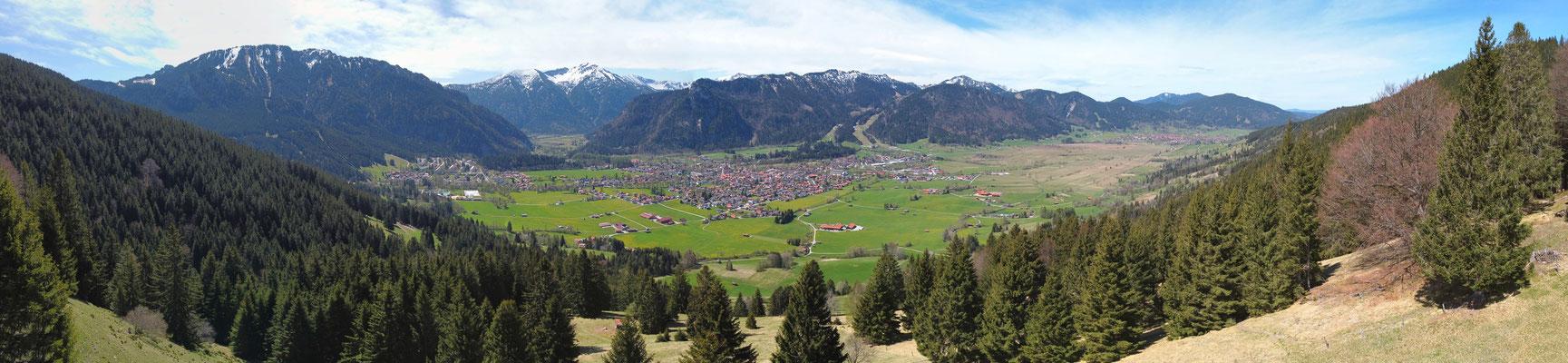 Panorama - Drohnenfoto - Landschaft - Bayern - Berge - Alpen - Sommer - Ausflug - Wanderung - Oberammergau