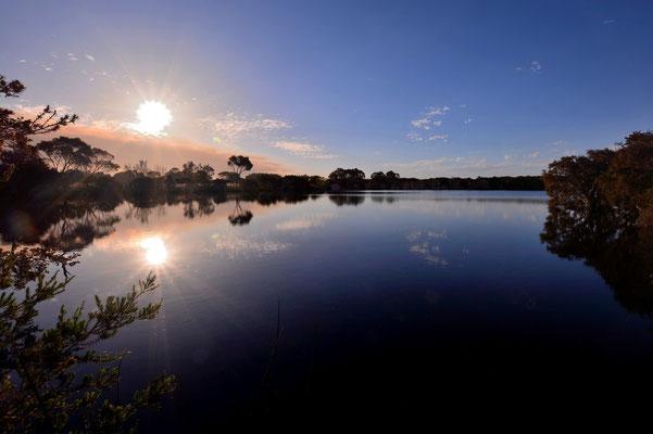 Australien, Australia, Westaustralia, Western Australia, Landschaft, See, Spiegelung, Sonnenuntergang