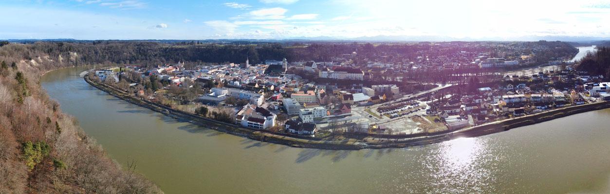 Panorama - Drohnenfotografie - Wasserburg am Inn - Innenstadt