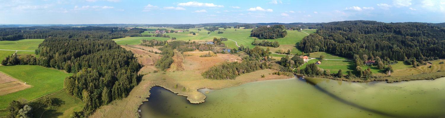 Panorama - Drohnenfoto - Landschaft - See - Harmatinger Weiher