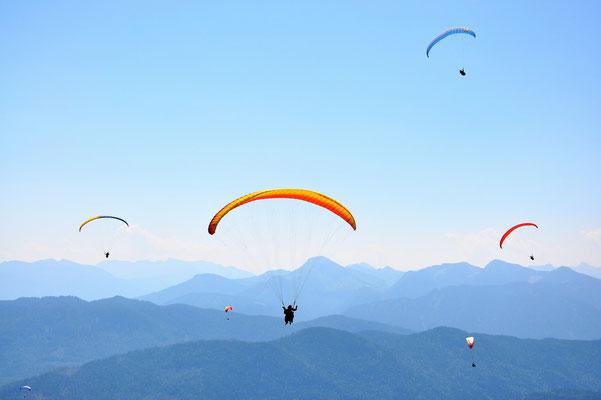 Bayern, Alpen, Wanderung, Landschaft, Berge, Paragliding, Brauneck