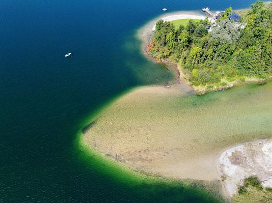 Drohnenfoto - Vogelperspektive - Drohne - Drohnenbild - Luftaufnahme - See - Tegernsee - Ringsee