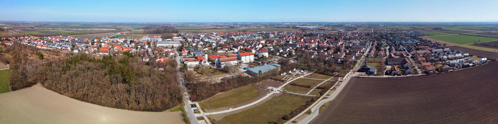 Panorama - Drohnenfoto - Luftaufnahme - Landschaft - Städte - Aschheim