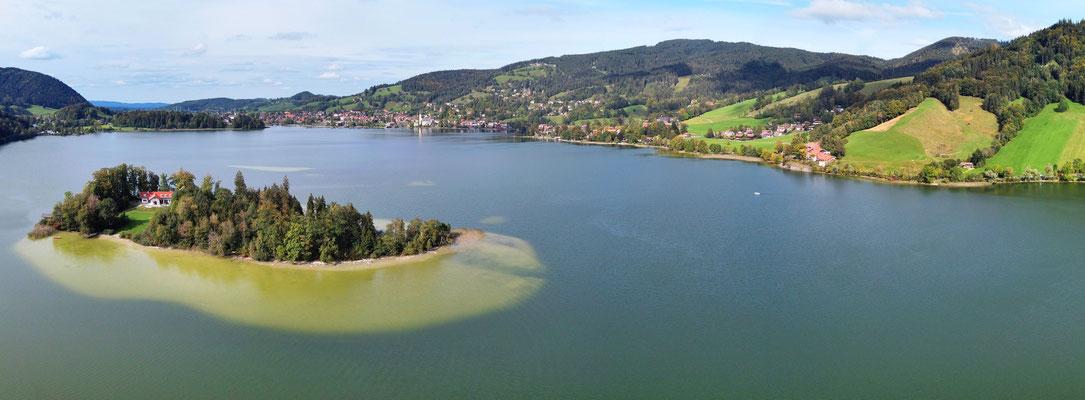 Panorama Drohnenfoto - Landschaft - Schliersee - Insel