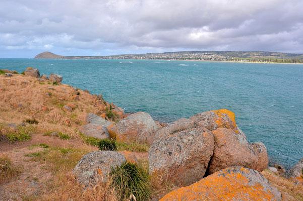 Australien, Australia, South Australia, Kangaroo Island, Landschaft, Sandstrand, Küste, Felsen, Granite Island