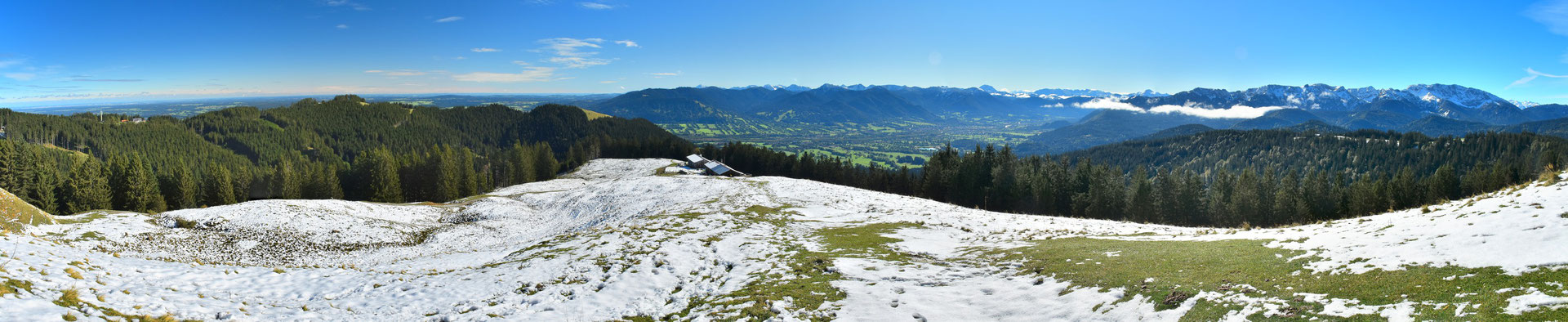 Panorama, Drohnenfoto , Zwiesel, Rund um Blick, Winter, Schnee, Grat, Alpen, Berge