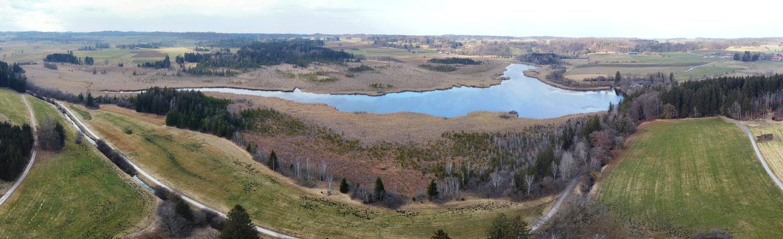 Panorama - Drohnenfoto - Landschaft - Bayern - Ausflug - Wanderung - Maisinger See