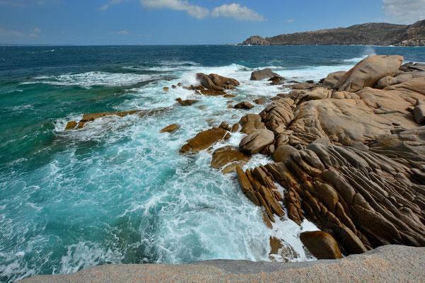 Sardinien, Sardegna, Landschaft, See, Küste, Aussicht, Felsenformationen, Capo Testa